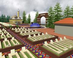 İşte Yeni Kars Mezarlığı