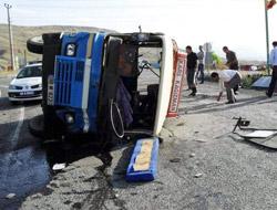 Kağızman'da kaza:10 yaralı