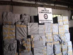 3 milyon TL'lik kaçak sigara
