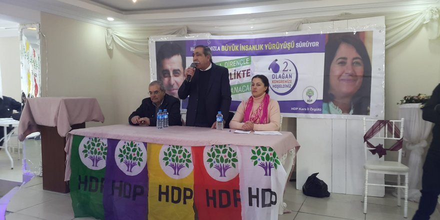 HDP Kars İl Kongresi Yapıldı