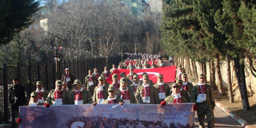 Bilecik'te binlerce kişi Sarıkamış şehitleri için yürüdü