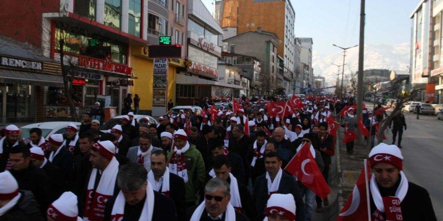 Muşlular 'Sarıkamış Şehitleri' için yürüdü