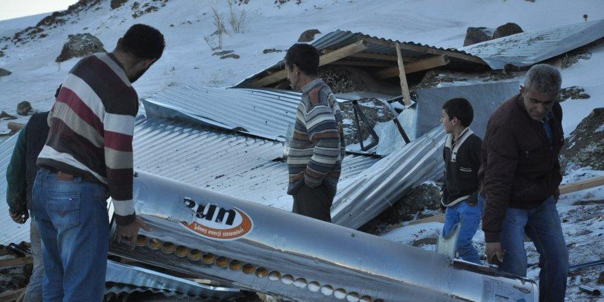 Halefoğlu'nda fırtına felaketi