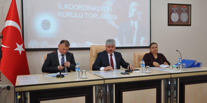 Kars İl Koordinasyon Kurul Toplantısı'nın ilki yapıldı