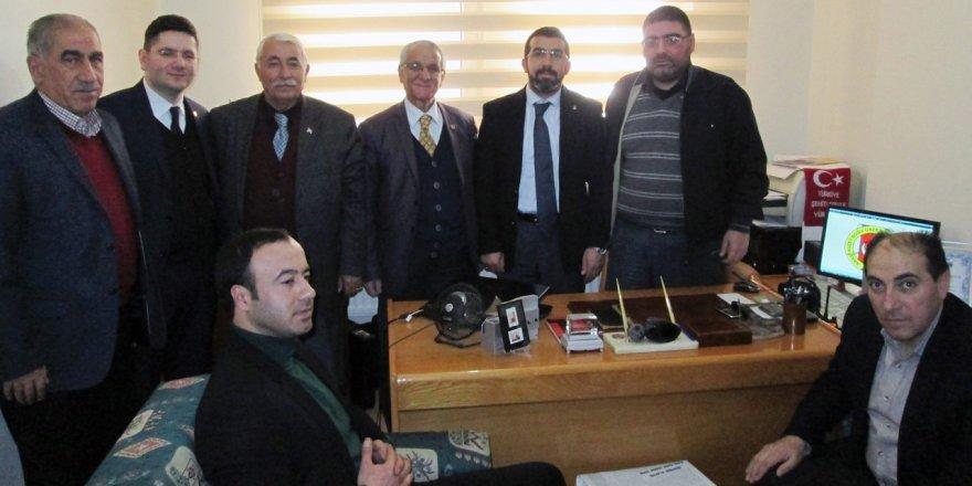 AK Parti'den Kars Kuzey Doğu Gazeteciler Cemiyetine ziyaret