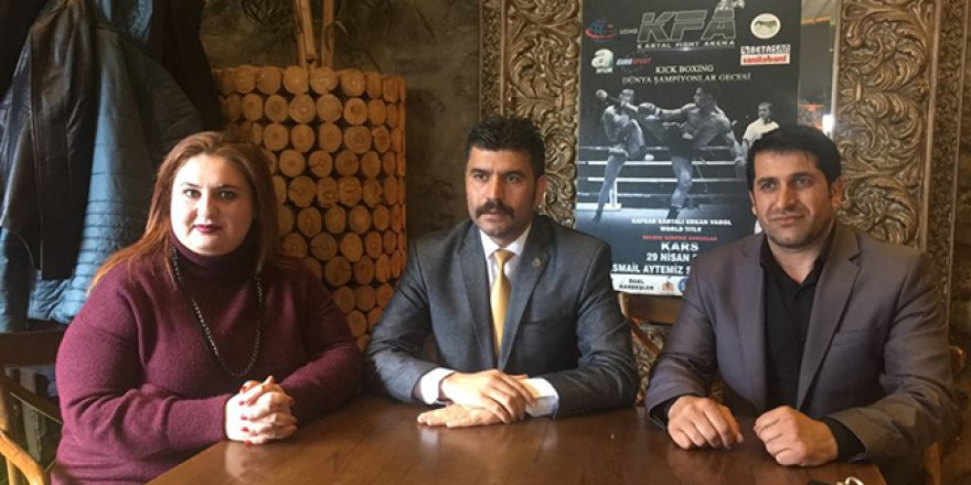 Kick Boks Dünya Şampiyonlar Gecesi Kars'ta düzenlenecek