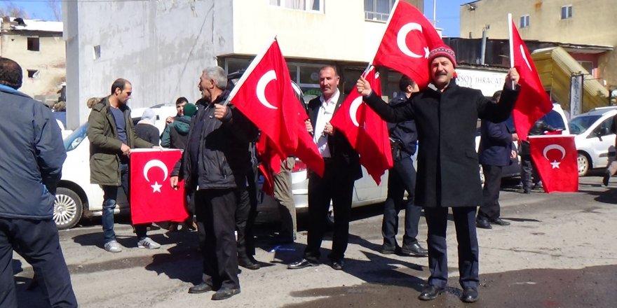 Sarıkamış'ta, Afrin'e destek konvoyu düzenlendi