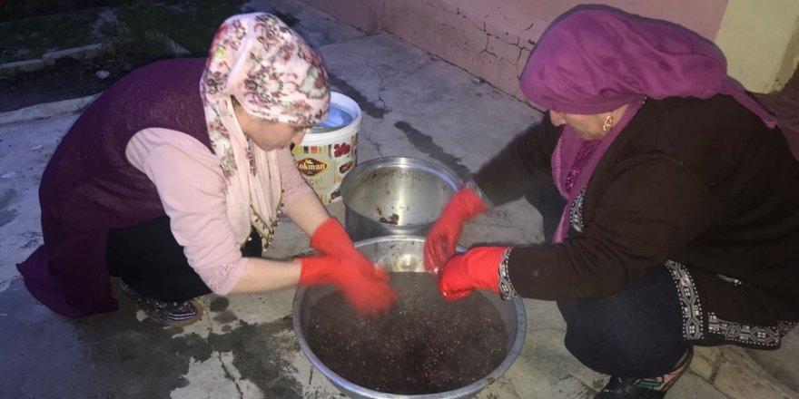 Sarıkamış'ta C vitamin deposu kuşburnu Ramazan için hazırlanıyor