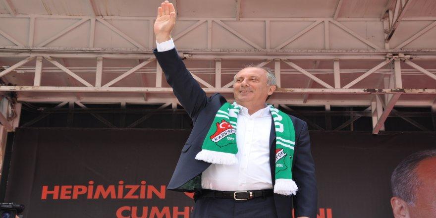CHP Cumhurbaşkanı adayı Muharrem İnce, Karslılara seslendi
