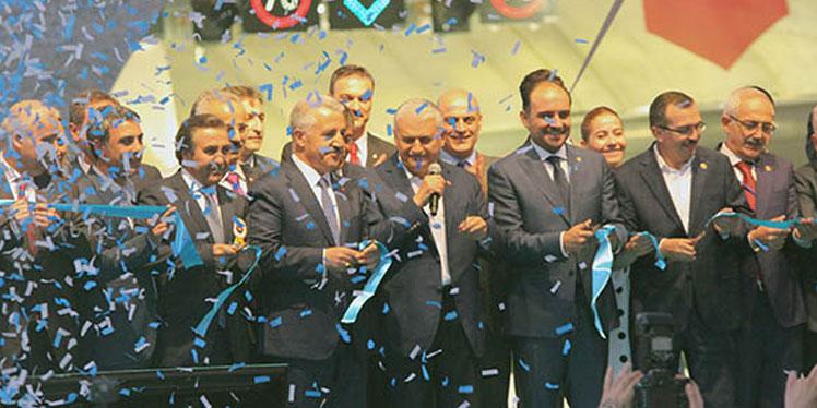 UDH Bakanı Arslan, Başbakan Yıldırım ile Sabuncubeli Tünelleri açılışına katıldı
