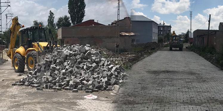 Kars Belediyesi yol yapım çalışmalarına başladı