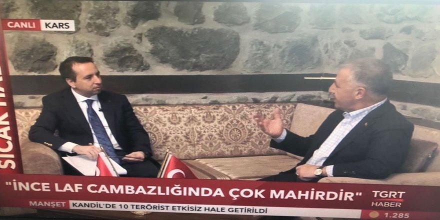 UDH Bakan Ahmet Arslan, Kars'ta TGRT Haber'in Canlı Yayın Konuğu oldu