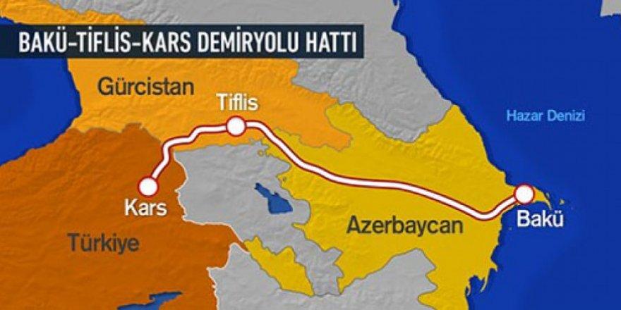 """""""Bakü-Tiflis-Kars Demiryolu"""" yük vagonları ile tahıl taşındı"""