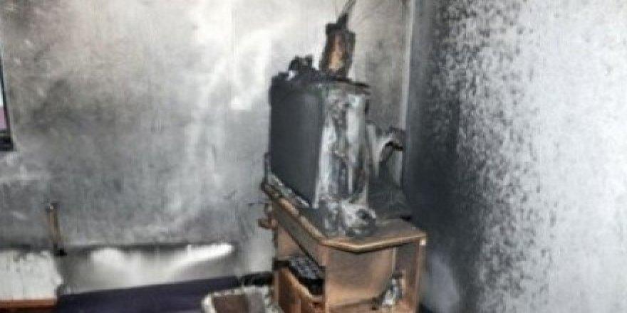 Kars'ta televizyon bomba gibi patladı