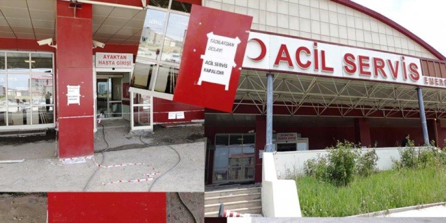 Kafkas Üniversitesi acil servisi geçici tadilat nedeniyle kapatıldı