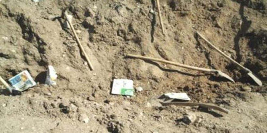 Sarıkamış'ta kaçak kazı yapan yapan 5 kişi yakalandı