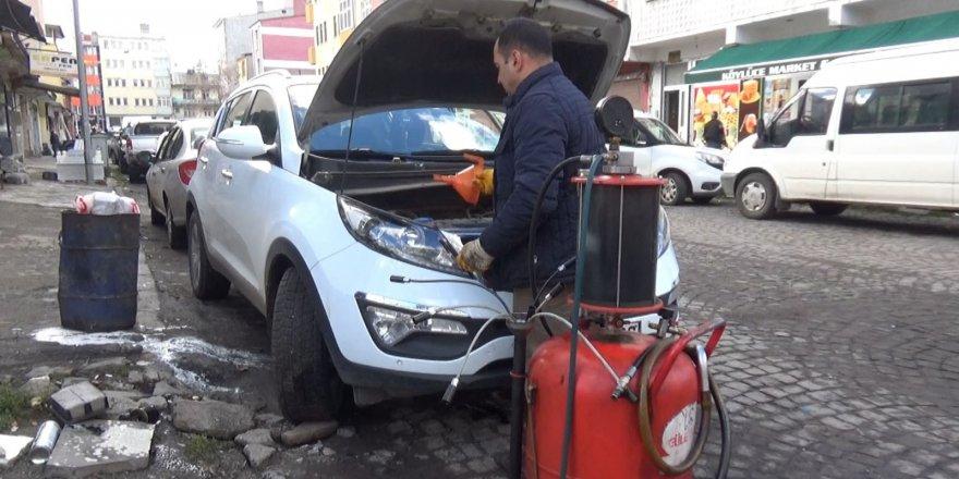 Kars'ta araçlara kışlık bakım
