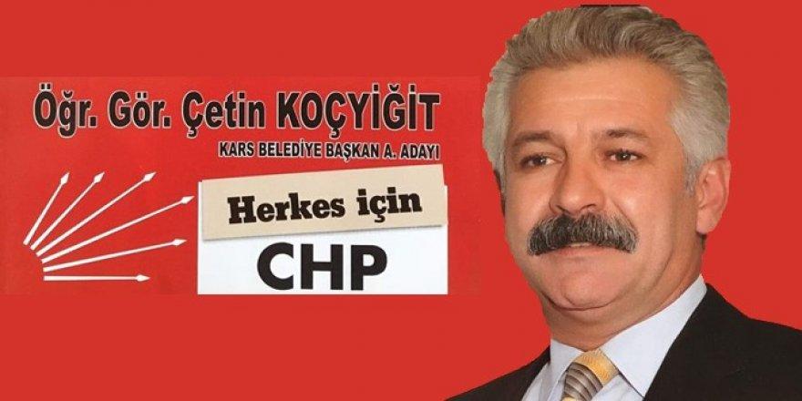 CHP Belediye Başkan A. Adayı Çetin Koçyiğit'ten Kars İçin Çağrı