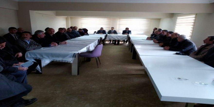 Arpaçay'da Muhtarlar toplantısı