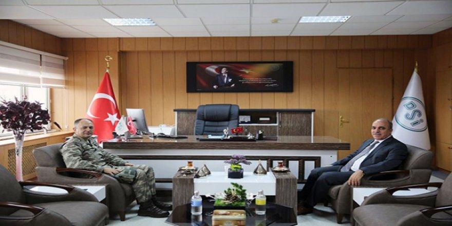 Tuğgeneral Nuhut, DSİ Bölge Müdürü Dündar'ı ziyaret etti
