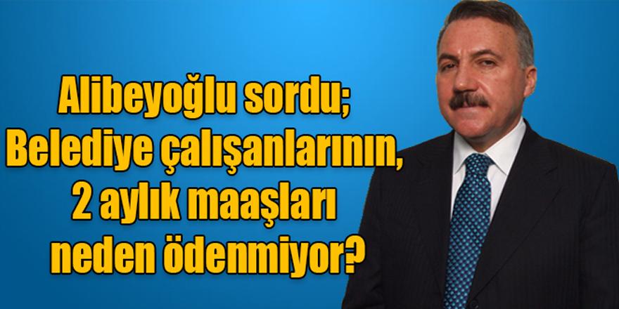 Naif Alibeyoğlu sordu; Belediye çalışanlarının, 2 aylık maaşları neden ödenmiyor?