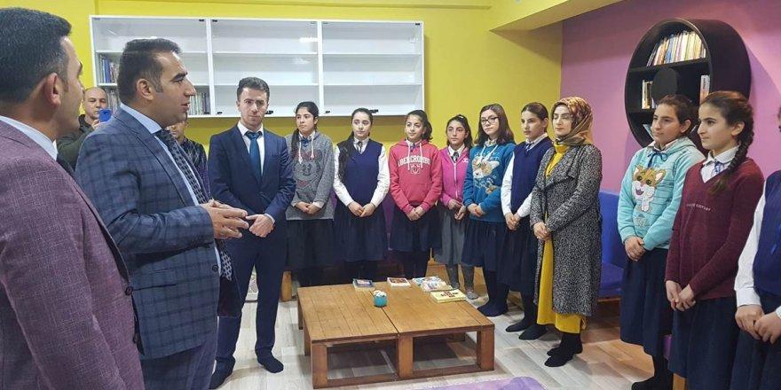 Kağızman Kuloğlu Köyünde kütüphane açılışı yapıldı