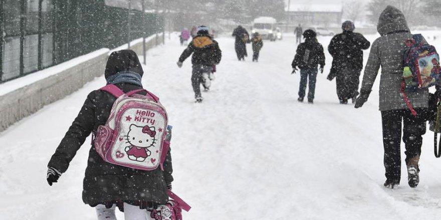 Kars'ta Çarşamba günü okullar tatil edildi