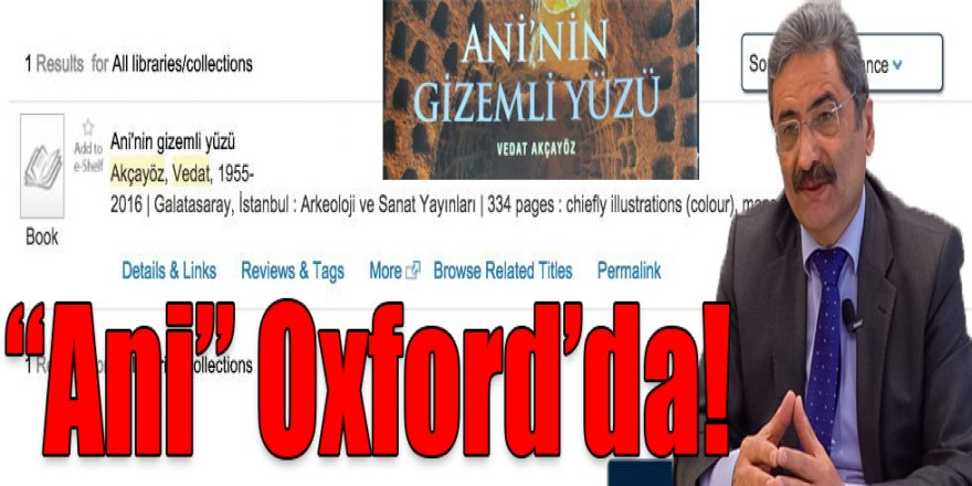 """Ani"" Oxford'da"