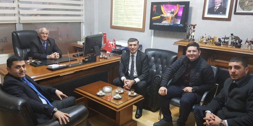 MHP Kars Belediye Başkan adayından gazetekars'a ziyaret