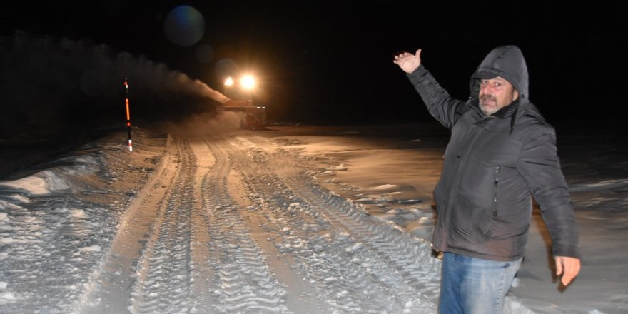 Kars'ta bir kişi donmaktan son anda kurtuldu