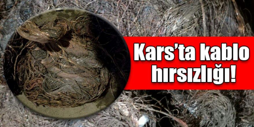 Kars'ta kablo hırsızlığı