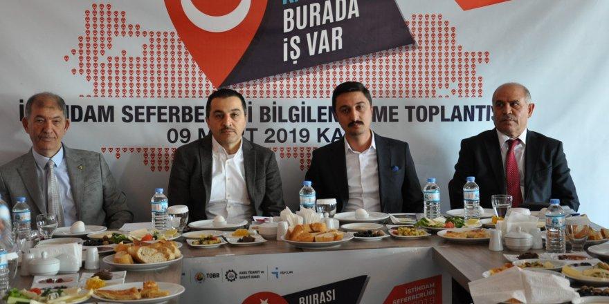 """Kars'ta """"İstihdam Seferberliği-2019"""" başlatıldı"""