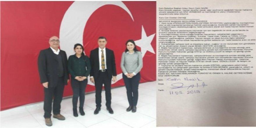 Cumhur İttifakı adayı Çetin Nazik, Can Dostları Derneği ile protokol imzaladı