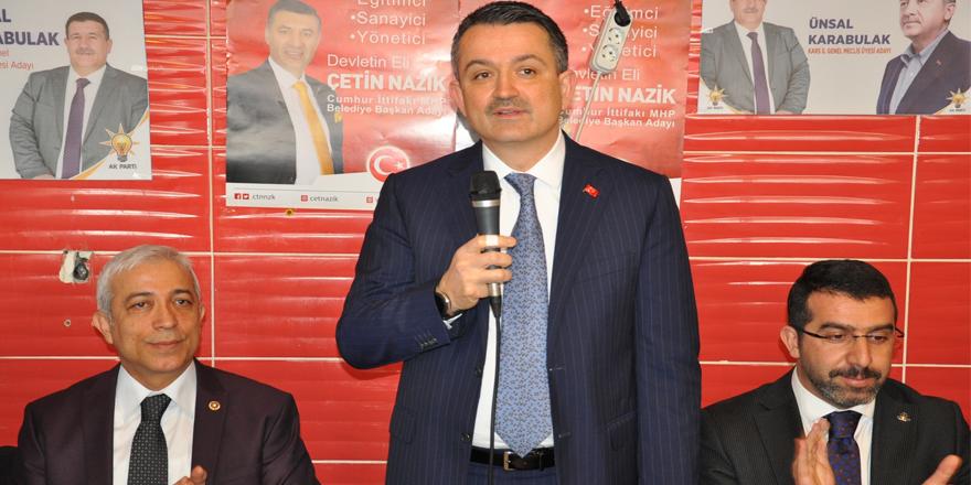 Tarım ve Orman Bakanı Bekir Pakdemirli Kars'a geldi