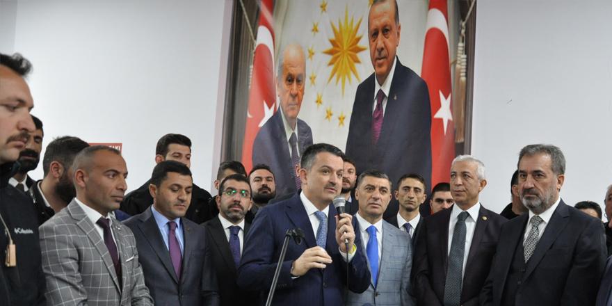 """Bakan Pakdemirli: """"Kars'ta Cumhur İttifakını destekleyeceğiz"""""""