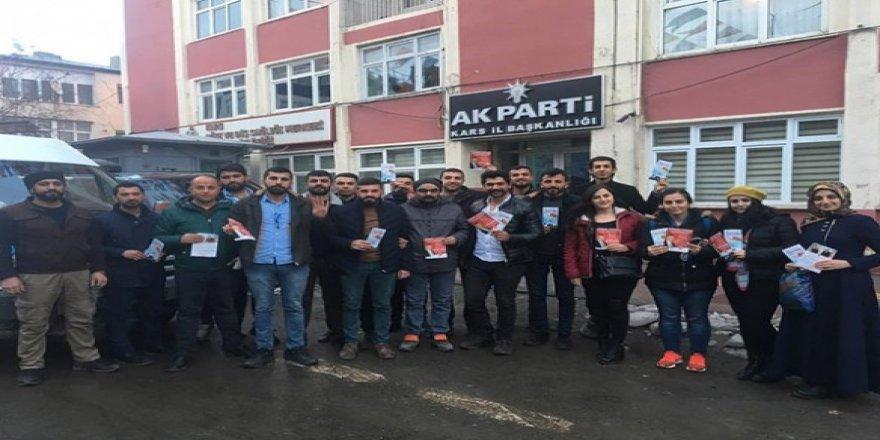 AK Gençlik Kars'ta Cumhur İttifakı için sahalarda
