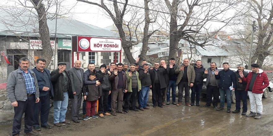 AK Parti İl Genel Meclis Üyesi adayları köylerde aralıksız çalışıyor
