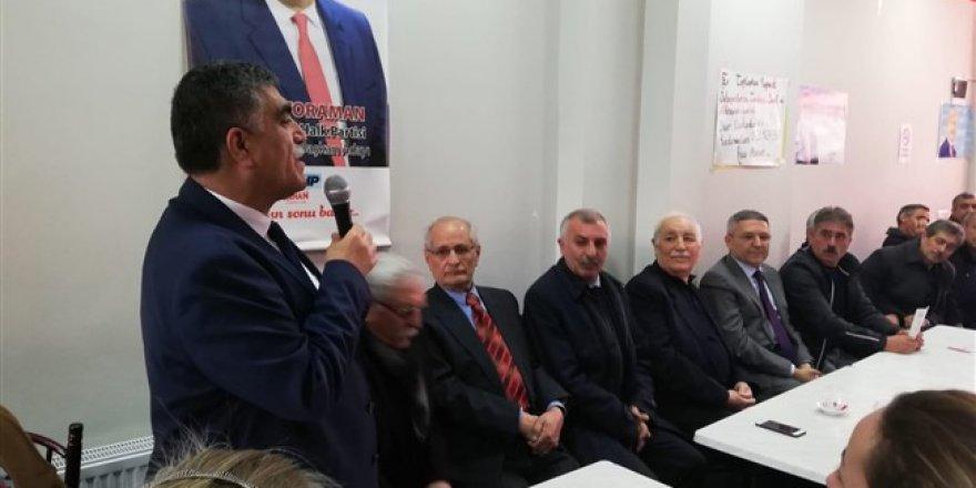 CHP Adayı Taner Toraman'a büyük destek
