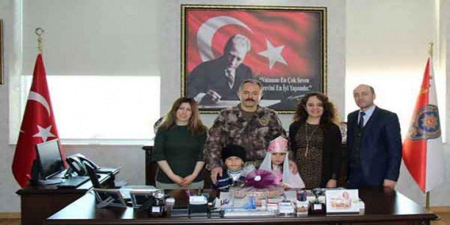 Kars İl Emniyet Müdürü Ümit Bitirik'e Nevruz Bayramı ziyareti