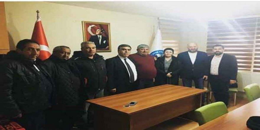 CHP Adayı Taner Toraman, ASKF İl Başkanlığını ziyaret etti