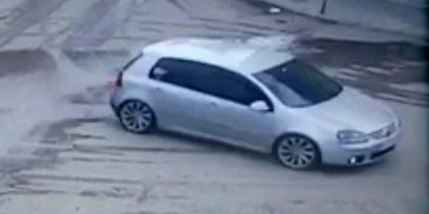 Sarıkamış'ta bir sürücü drift yaptı, 5 bin lira para cezası yedi