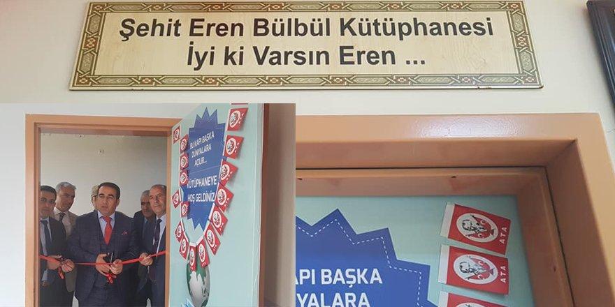 Şehit Eren Bülbül'ün adı Kağızman'da kütüphaneye verildi