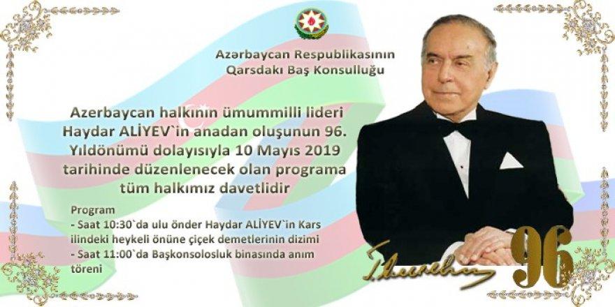 Haydar Aliyev, 96. doğum gününde Kars'ta da anılacak