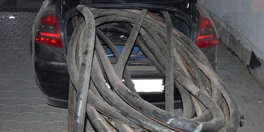 Digor'da kablo hırsızlığı