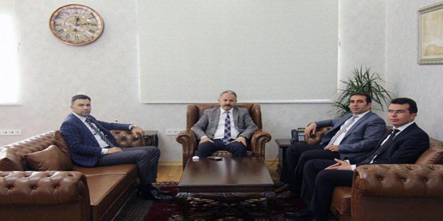 Kağızman ve Digor Kaymakamları Emniyet Müdürü Ümit Bitirik'i ziyaret etti