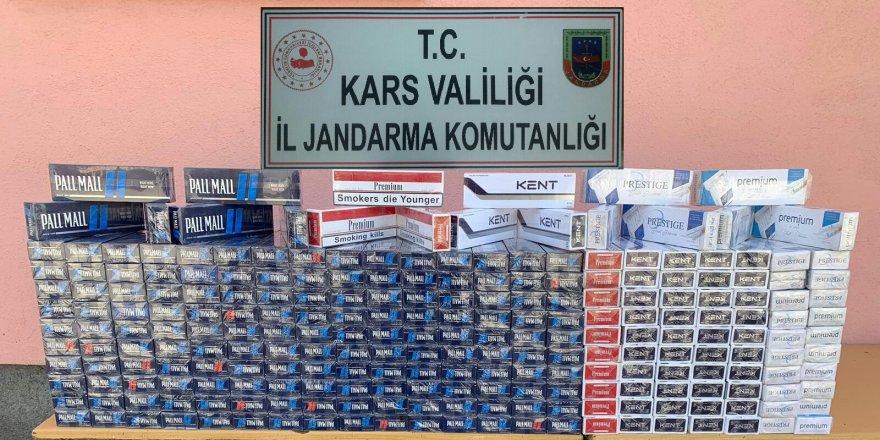 Kars'ta jandarma sigara kaçakçılarına göz açtırmıyor