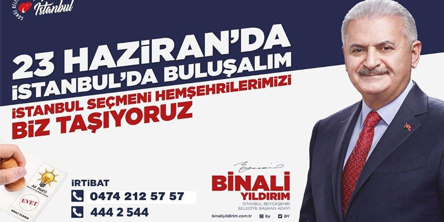 İstanbul'da oy kullanacak vatandaşlara ücretsiz servis