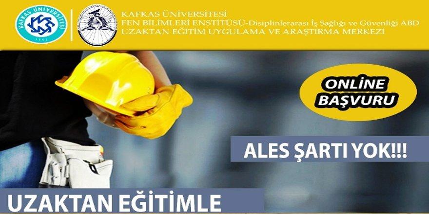 KAÜ'de, uzaktan eğitimde iş sağlığı ve güvenliği programı
