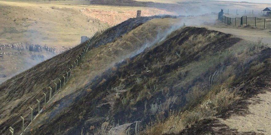 Ani Örenyeri'nde yangın