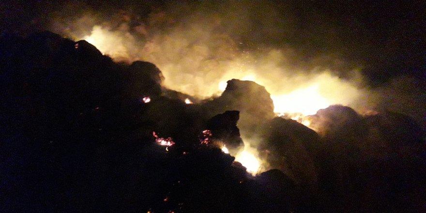 Kars Kalesi eteğindeki yangın korkuttu